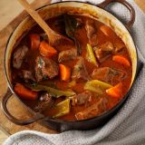 Fall Chunky Beef Roasted Bell Pepper Stew