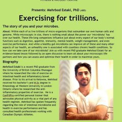 Talk – Exercising for trillions. The story of you and your microbes.