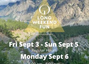 September Long Weekend Hours